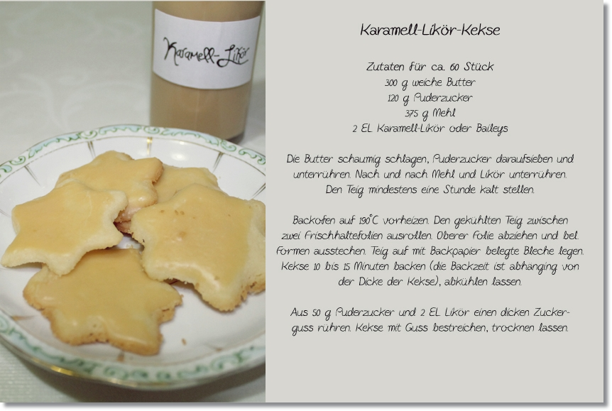 Adventskalendertürchen # 16 Karamell Likör / Kekse 18